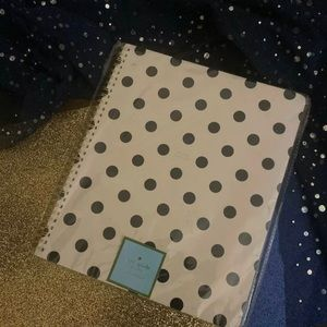KATE SPADE NY WHT POLKA DOT Notebook GORG LUX